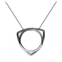 0,23 ct Schwarz Weiß Diamant Ring & Kette