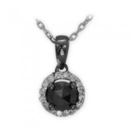 0,31 ct Schwarz Weiß Diamant Kette