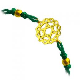 585er Gelbgold Herzchakra Armband