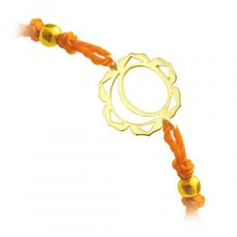 585er Gelbgold Sakralchakra Armband