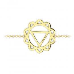 585er Gelbgold Nabelchakra Armband