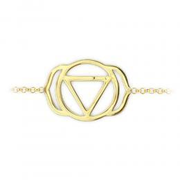 585er Gelbgold Stirnhchakra Armband