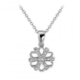 0,05 ct Diamant Schneeflocke Kette