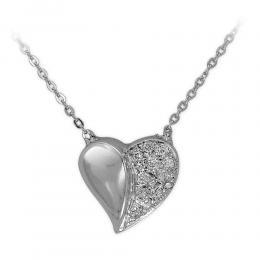 0,06 ct Diamant Herz Kette
