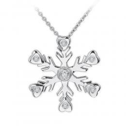 0,07 ct  Schneeflocken Diamant Kette
