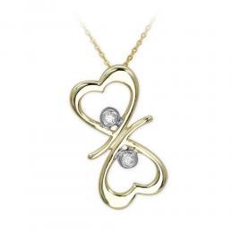 0,04 ct Diamant Herz  Kette