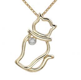 Katze Diamant Kette