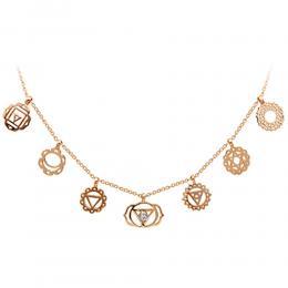 0,02 ct Diamant 7-Chakras Kette