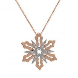 0,03 ct Schneeflocken Diamant Kette