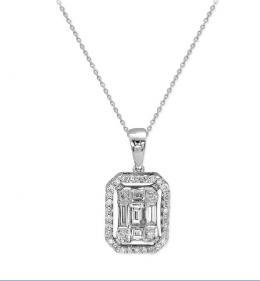 ct. 0.35 Baget Diamant Anhänger