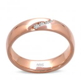 585er Rosegold Diamant Trauring
