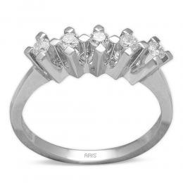 0,38 Eternity Diamant Ring