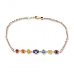 Aris Diamond Bunter Chakra Armband Rosegold 14 karat (585) mit Diamant