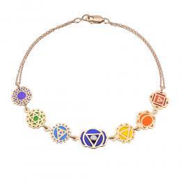 7 Chakra Armband mit Diamanten Lassen Sie Ihre Lebensenergie erneuern