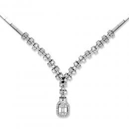 0,97 ct Diamant Baguette-Schliff Halskette