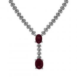 3,35 ct Rubin Diamant Halskette