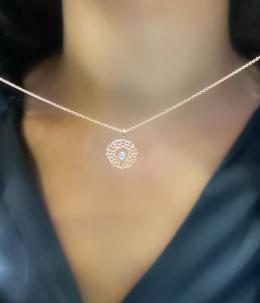 0,01 ct Diamant Kronenchakra Kette