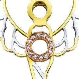 0,03 ct Diamant Erzengel der Weisheit Zadkiel Kette