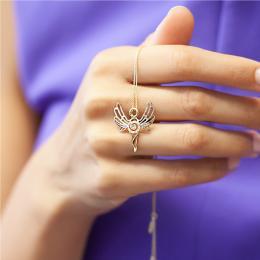 0,04 ct Diamant Erzengel der Ewigen Ruhe Azrael Kette