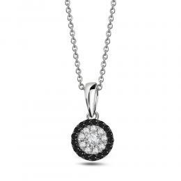 0,16 ct Schwarz-Weiß Diamant Kette