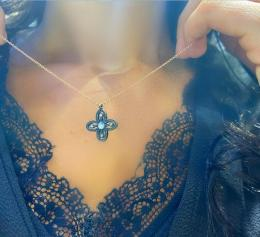 0,18 ct Diamant Adinkra Wohlstand Kette