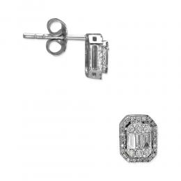 0,44 ct Diamant Baguette Ohrringe