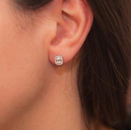 0,44 ct Diamant Baguette Ohrringe