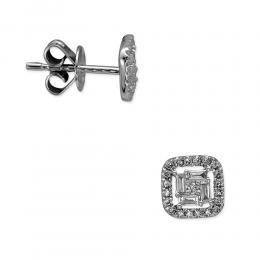 0,30 ct Diamant Baguette-Schliff Ohrringe