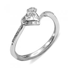 0,19 ct Diamant Herz Ring