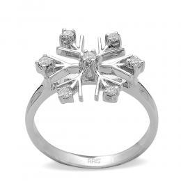 0,15 ct Diamant Schneeflocke Ring