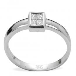 0,18 Ct Diamant Princess Solitaire Ring