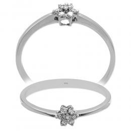 0.07 Ct. Diamant Blume Ring