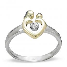 0,02 ct Diamant Eternal Love Ring