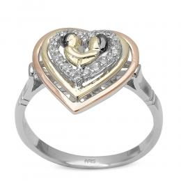 0,10 ct Diamant Eternal Love Ring