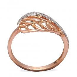 0,08 ct Diamant Engelsflügel Ring