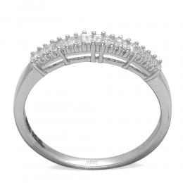 0,37 ct Diamant Baguette-Schliff Ring