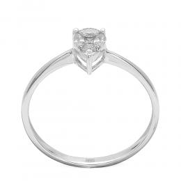 0,21 ct Diamant Tropfen Effect Ring