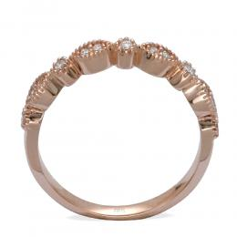 Ct. 0.14 Rosegold Diamantring