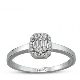 0,12 Ct.  Baguette  Diamant Ring