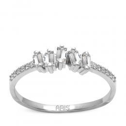 0,35 ct Diamant Baguette Ring
