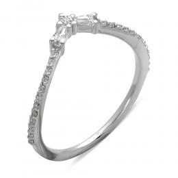 0,24 ct Diamant Baguette Ring