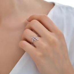 0.16 ct. Diamant Ring im Trend Design