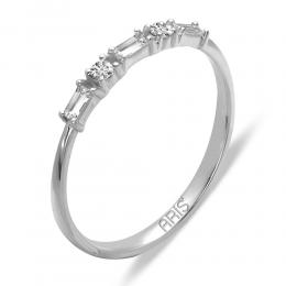 0,14 ct Diamant Baguette Ring