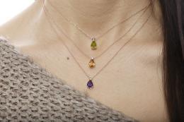 1,40 ct Peridot Diamant Kette