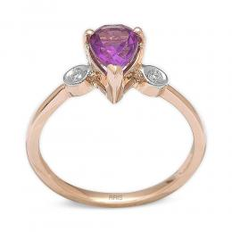 1,08 ct  Amethyst Ring