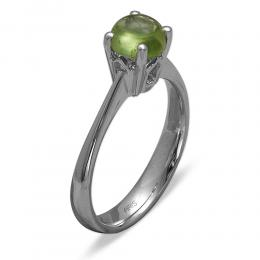 1,00 ct  Peridot Ring