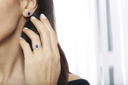 2,41 ct Saphire Diamant Ohrringe