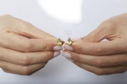 2,67 ct Peridot Diamant Ohrringe