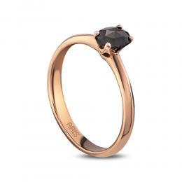 0.45 ct.Schwarzer Diamant Ring