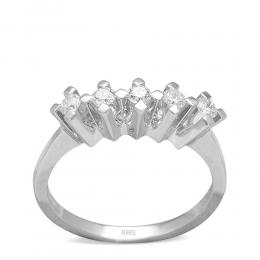 0,38 Eternity Diamant Ring